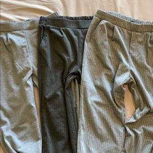 3 pairs super comfy dressy joggers. Size small
